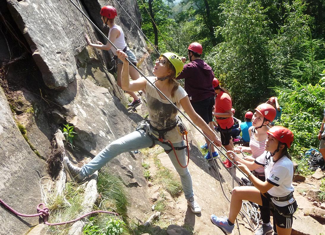 Klettersteig Pfalz : Klettersteig riol mehring unterwegs ist zuhauseu